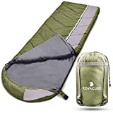 Camping Sleeping Bags for Adults - 3 Season Warm & Cool Weather, Lightweight & Waterproof Bag for Hiking, Camping, Traveling