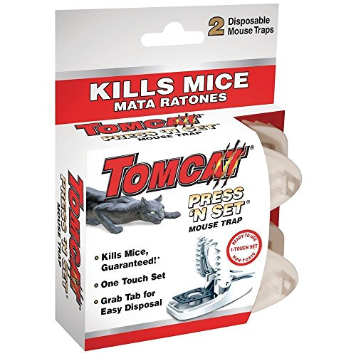 Tomcat Press 'N Set Mouse Trap, 2-Pack(2Pack 4 Traps total)