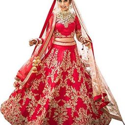 ShreeBalaji Creation Women's Silk Lehenga Choli (Multicolor_free size)