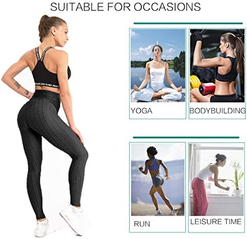 AIMILIA Butt Lifting Anti Cellulite Sexy Leggings for Women High Waisted Yoga Pants Workout Tummy Control Sport Tights 3