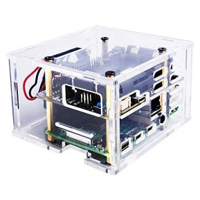GeeekPi-Raspberry-Pi-4-X725-Acrylic-Case-with-40x40x10mm-4010-Fan-DC-5V-for-Raspberry-Pi-4B3B3B-X725-Power-Management-UPS-HAT