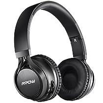 Bluetooth Cuffie Stereo Mpow Thor Pieghevole Auricolari Wireless 4.0 Over-Testa Senza Fili Bluetooth Cuffie Stereo con Microfono per iPhone 6s plus/6s, iPhone 6/6 Plus, iPhone 7/7 Plus, iPhone 5s/5c/5/5SE, iPad, LG G2, Samsung Galaxy S6 Edge+/S6 Edge/S6/ S5/S4/S3, Note 4/Note 3/Note 2, Sony, Huawei P9 ed altri Smartphone e Computer - Nero