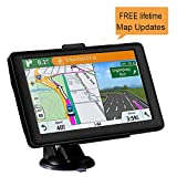 GPS Navigation for Car, 7 inches GPS Navigator System with Lifetime Maps, Spoken Turn-by-Turn Directions, Direct Access, Driver Alerts