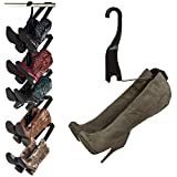 Boot Butler Boot Storage Rack As Seen On Rachael Ray - Clean Up Your Closet Floor with Hanging Boot Storage - Easy to Assemble & Built to Last - 5-Pair Hanger Organizer & Shaper/Tree