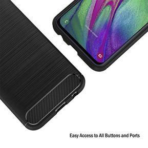 AICEK-Coque-Compatible-Samsung-Galaxy-A40-Noir-Silicone-Coque-pour-Samsung-Galaxy-A40-Housse-Fibre-de-Carbone-Etui-Case-59-Pouces