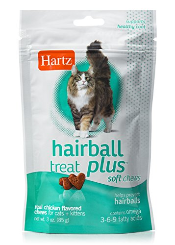 Hartz Hairball Remedy Plus Chicken Flavored Soft Chews for Cats and Kittens 1