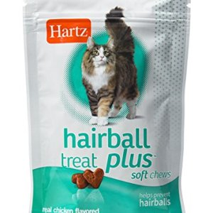Hartz Hairball Remedy Plus Chicken Flavored Soft Chews for Cats and Kittens