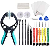 Kaisi Electronics Screen Opening Toolkit Cellphone iSlack Suction Cup Pliers Opening Repair Kit Compatible for iPhone, Samsung Galaxy, Cell Phone, iPad, iPod, iMac, and More LCD Screen Opener - 16Pcs