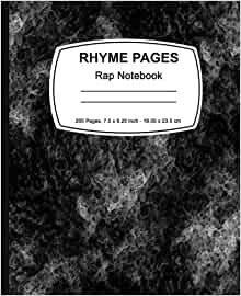 Rhyme Pages: Rap Notebook: Rap Notebook 200 page Edition ...