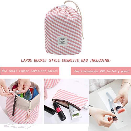 60a649f811fb Portable Cosmetic Lazy Bag,2 PCS Travel Drawstring Makeup Storage ...