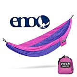 ENO Eagles Nest Outfitters - SingleNest Hammock, Portable Hammock for One, Purple/Fuchsia (FFP)
