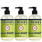 Mrs. Meyer's Clean Day Liquid Hand Soap, Lemon Verbena Scent, 12.5 fl oz (Pack of 3)