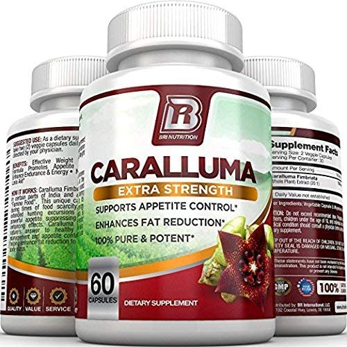 BRI Nutrition Caralluma Fimbriata - Natural Appetite Suppressant & Weight Loss Diet Pills - 1000mg, 30-Day, 60 Count Vegetable Cellulose Capsules 4