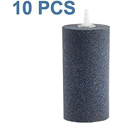 """Aquaneat 10pcs 4""""x2"""" Air Stone for Aquarium Air Pump Fish Tank Aerator Diffuser Hydroponics Cylinder (10pcs, 4"""")"""