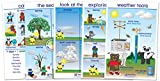 NewPath Learning 94-0224 Weather Bulletin Board Chart Set, English Edition (Pack of 5)