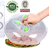 Microwave plate cover with Magnetic,  2nd Generation, safer | more convenient, new Microwave Lid prevent splatter cover, BPA-free, FDA-certified,11.5in, Plate Serving Cover with steam vent, ZFITEI