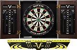 Viper Stadium Sisal/Bristle Steel Tip Dartboard & Cabinet Bundle: Standard Set (Shot King Dartboard, Darts and Throw Line)