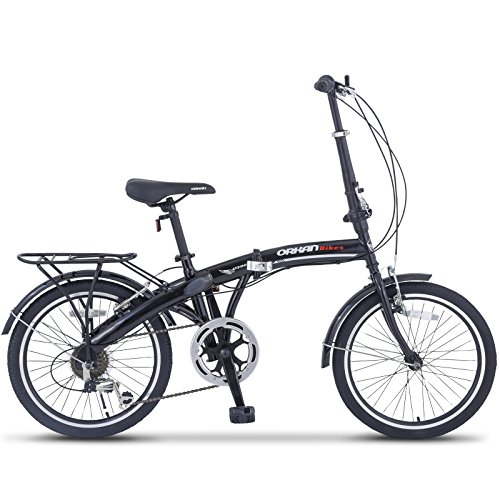 ORKAN 2-Types Folding Bikes: 26' Mountain Bike 7 Speed with Hybrid Suspension / 20'' Folding Bike 6 Speed without Suspension