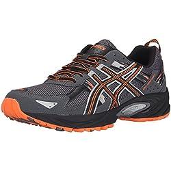 ASICS Men's GEL Venture 5 Running Shoe, Carbon/Black/Hot Orange, 12 M US