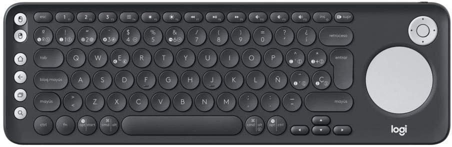 Logitech K600 Teclado con Touchpad y Mando de Dirección para TV y PC