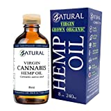 Hemp Oil Anti-Inflammatory_Pain Relief_100% Pure_Cold Pressed_High Vegan Omegas 3 & 6_No Fillers or Additives, Therapeutic Grade (8 Ounce)