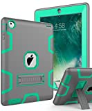 Topsky NTECeaq Shock-Absorption Three Layer Armor Defender Full Body Protective Case for iPad 2, 3, 4 Grey/Green