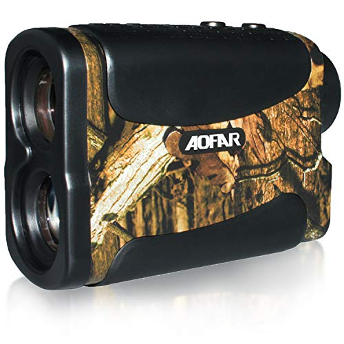 AOFAR Hunting Archery Range Finder HX-700N 700 Yards Waterproof Laser Rangefinder for Bow Hunting with Range Scan Fog and Speed Mode, Free Battery, Carrying Case