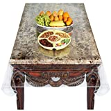 Venice Collections Super Clear Extra Heavy Duty, Durable 100% Vinyl Tablecloth Protector & Table Cover Size 70 X 144 Inches Oblong