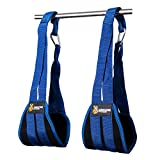 DMoose Fitness Ab Straps Six Pack Home Gym Exerciser - Double Strap Support and Stitching, Rip-Resistant Fabric, Longer & Thick Arm Padding - Premium Grade Abs Workout Equipment for Men & Women