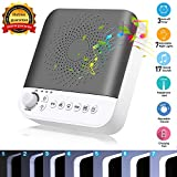 HENSUN White Noise Sound Machine, 17 Non-Looping Natural Sounds| 7 LED Night Lights| Plug in Adapter| Portable Sleep Sound Therapy Maker with Timer & USB Output for Home Office or Travel