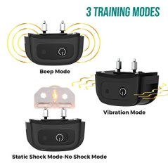 All-New-2019-Dog-Training-Collar-with-Remote-Long-Range-1600-Shock-Vibration-Control-Rechargeable-Ipx7-Waterproof-E-Collar-Shock-Collar-for-Dogs-Small-Medium-Large-Size-All-Breeds