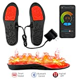 LEHU Smart Electric Heated Shoes Insoles Foot Warmers Multiple Sizes APP Bluetooth Remote Control with Rechargeable Battery Powered for Hunting Fishing Hiking Camping Outdoor Sports(41-43)(11-12-13)