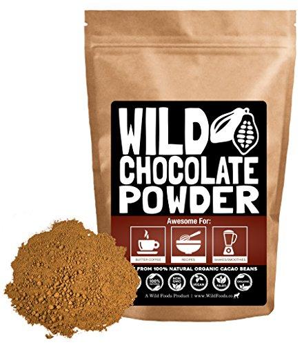Organic Cacao Powder, Wild Dark Chocolate Powder, Handcrafted, Single-Origin, Fair Trade, Organic, Non-Alkalized Chocolate from Peruvian Heirloom Cacao beans (8 ounce)