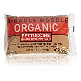 Miracle Noodle Organic Shirataki Fettuccini, Gluten-Free, Zero Carb, Keto, Vegan, Soy Free, Paleo, Blood Sugar Friendly, 7oz (Pack of 12)