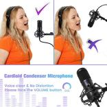 USB-Podcast-MicrophoneNASUM-192KHZ24BIT-PlugPlay-USB-Stream-Condenser-Microphone-with-Sound-CardBoom-ArmShock-MountPop-Filter-and-Windscreen-for-Gaming-RecordingVoiceover-and-YouTube