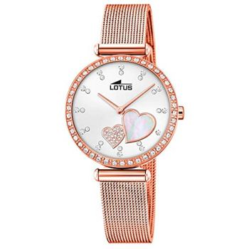 Lotus Bliss Watch for Woman 18620/1 Rose Gold Steel Bezel with Crystals