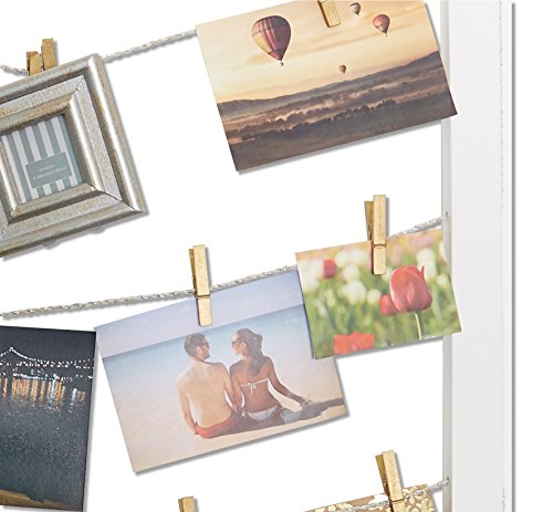 Reimagine Hanging Photo Display- Wood Wall Picture Frame Collage ...
