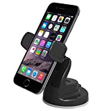 iOttie Easy View 2 Car Mount Holder for iPhone 7 7 Plus, 6s Plus 6s 5s 5c, Samsung Galaxy S8 S7 Edge Plus S7 S6, Note 5 -Retail Packaging –Black