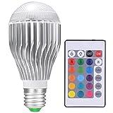 LED Light Bulbs Color Changing Light Bulb Colorful Magic RGB Bulb 10W for Christmas Lights/Home Decor [Fits E26 and E27]