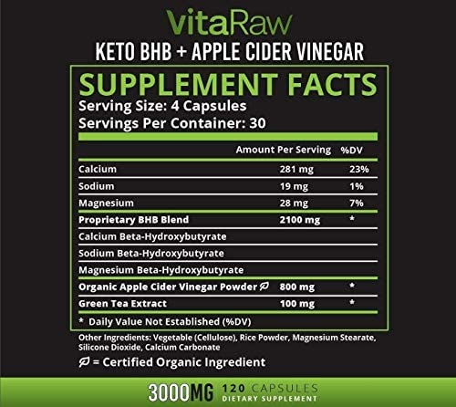 Keto Pills with Green Tea + Organic Apple Cider Vinegar Capsules [ Powerful 3000MG Diet Pills ] Exogenous Ketones Supplement + ACV | Keto BHB Ketones Detox Cleanse That Work Fast for Women and Men 4