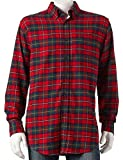 Croft & Barrow Mens Classic Fit Flannel Shirt Scotch Red Plaid Tartan (XLT (X-Large Tall))