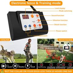 OCACA-2019-Updated-Remote-Dog-Training-Collars-with-Wireless-Dog-Fence-2-in-1-System-Outdoor-Adjustable-SoundVibrationShock-Function-Waterproof-Rechargeable-No-Bark-Collar-for-2-Pets