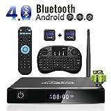 Caixa de TV Android GooBang Doo XB-III, 2 GB de memória RAM de 16 GB Amlogic Quad Core 64 bits Processador 3D 4K Bluetooth com teclado i10 mini - Preto