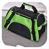 Better With You Folding Pet Carry Bag Nylon Breathable Mesh Cat Carriers Outside Portable Dog Travel Bag Outdoor Small Pet Carrying Handbag,Green,L