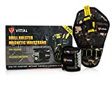 Magnetic Wristband for Holding Tools & Drill Holster (2-Pack) by VITTAL/15 Strong Magnets Adjustable...