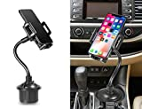 Universal Car Cup Holder Cradle Mount With 10'' Adjustable Gooseneck Compatible Most Cell Phones( Iphone Xs Max, Xr, 8 Plus, 7 Plus / Galaxy S10 Plus, S10 ,S9 ,S8 ,Note 9 ,Note 8 ,J3 / LG / Motorola )