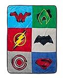 "DC Comics Justice League Plush Super Soft Throw Blankets (46""x60"")"