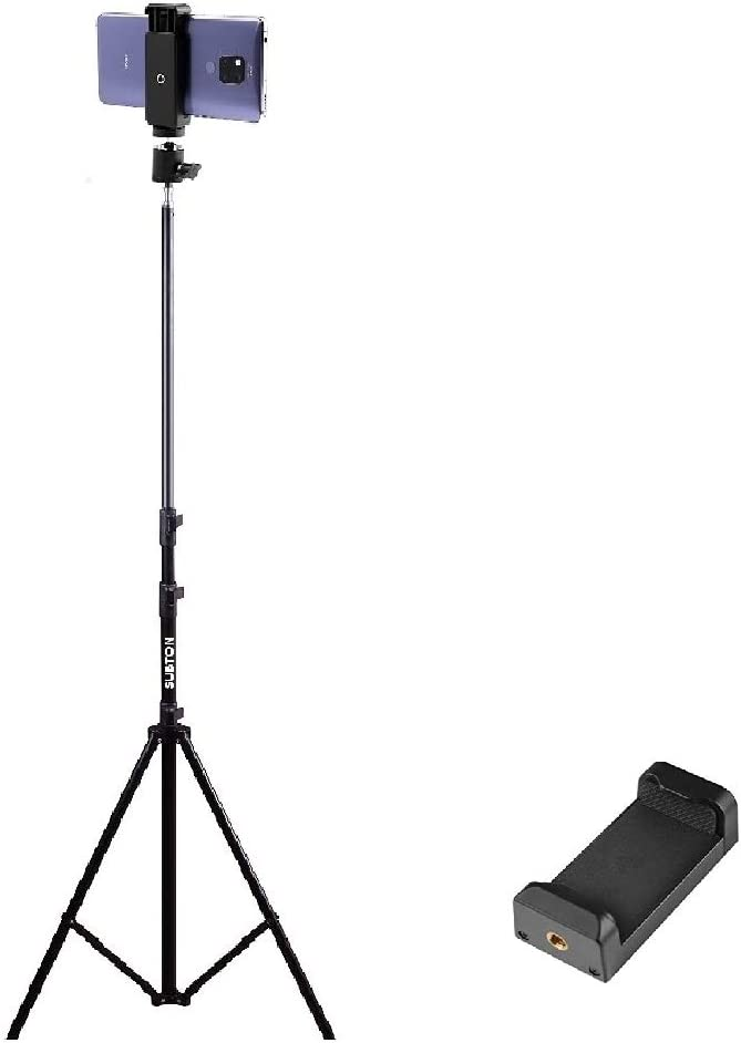 SUBTON 7 FEET Tripod Stand with Ball Head and Mobile Holder for Camera, DSLR, Mobile Ring Light for Beauty Parlor Studio Makeup Stage Live Recording Online Classes YouTube Family