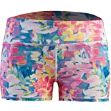Epic MMA Gear Women's 3' Stretch Booty Shorts - Fitness, WOD, Yoga, Running, (XL, Rose Brush)