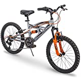 Huffy Kids Bike for Boys, Valcon 20 inch, 6-speed, Charcoal Gray